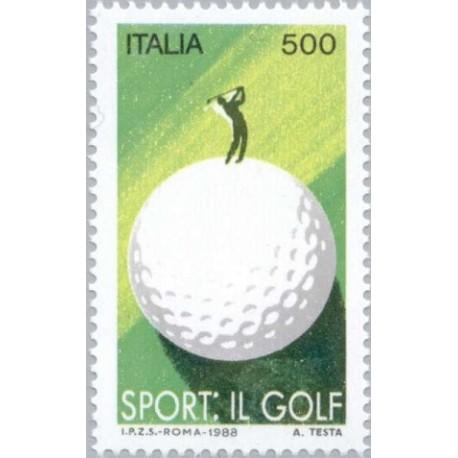 1 عدد تمبر گلف - ایتالیا 1988
