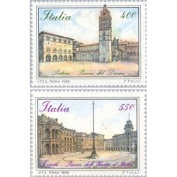2 عدد تمبر پیزا - نقاشی - ایتالیا 1988