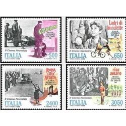 4 عدد تمبر فیلمهای نئورئالیست ایتالیائی - ایتالیا 1988 قیمت 21 دلار