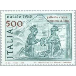 1 عدد تمبر کریستمس  - ایتالیا 1988