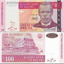 اسکناس 100 کواچا - مالاوی 2011