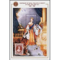 مینی شیت صدمین سالروز تاسیس انجمن تمبر سلطنتی نیوزلند - تابلو  - نیوزلند 1988