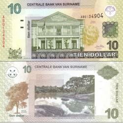 اسکناس 10 دلار - سورینام 2004 تاریخ 1 ژانویه