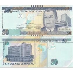اسکناس 50 لمپیراس - هندوراس 2014