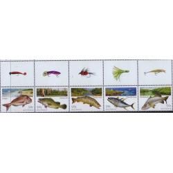 5عدد تمبر ماهیگیری در استرالیا با تب بالا - B - استرالیا 2005 ارزش روی شیت 2.5 دلار استرالیا