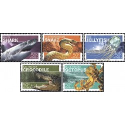 5 عدد تمبر جانداران خطرناک استرالیا - B - استرالیا 2006 ارزش روی شیت 2.5 دلار استرالیا