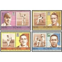 8 عدد تمبر رهبران کریکت جهان - نویس 1984