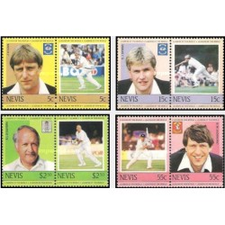 8 عدد تمبر رهبران کریکت جهان - 2 - نویس 1984
