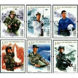 6 عدد تمبر نودمین سالگرد ارتش آزادیبخش خلق چین - چین 2017