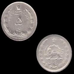 سکه نقره 5 ریال محمد رضا شاه 1323 ه ش کیفیت عالی در حد بانکی