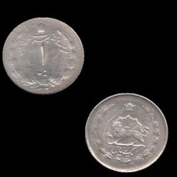 سکه نقره 1 ریال محمد رضا شاه 1323 ه ش بانکی