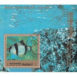 مینی شیت ماهیهای مدیترانه ای - با مهر CTO - منامه 1972 قیمت  2.7 دلار