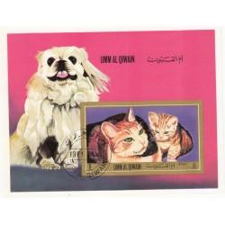 مینی شیت سگها و گربه ها - با مهر CTO - ام القوین 1971