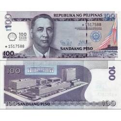 اسکناس 100 پیزو - یادبود صدمین سال نفت شل در فیلیپین - کمک به ساخت یک ملت - فیلیپین 2013