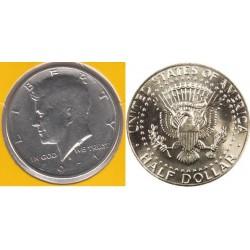 سکه نیم دلاری - نیکل مس - آمریکا 1971 غیربانکی