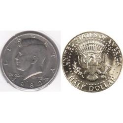 سکه نیم دلاری - نیکل مس - آمریکا 1983 غیربانکی
