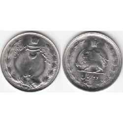 سکه 2 ریال 2536 محمدرضا پهلوی - بانکی - 2 ریال حرفی