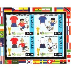 مینی شیت جام جهانی فوتبال آلمان - با پرچم ایران - توالو 2006 قیمت 8.8 دلار