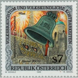 1 عدد تمبر گنجینه آداب و رسوم ملی - اتریش 1999