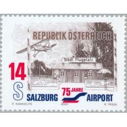 1 عدد تمبر 75مین سالگرد فرودگاه سالزبورگ - اتریش 2001