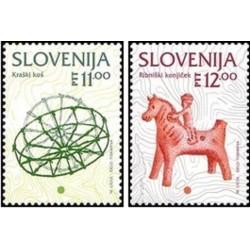 2 عدد تمبر سری پستی اسلوونی ، مینیاتور اروپا  - اسلوونی 1994