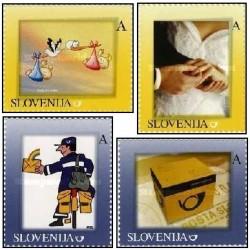 4 عدد تمبر شخصی - خودچسب - اسلوونی 2007 این تمبرها در کاتالوگهای آنلاین خارجی لیست شده