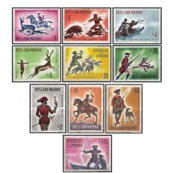 10 عدد تمبر شکار در قرون شانزدهم و هجدهم - سان مارینو 1961