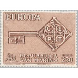 1 عدد تمبر مشترک اروپا - Europa Cept - سان مارینو 1968