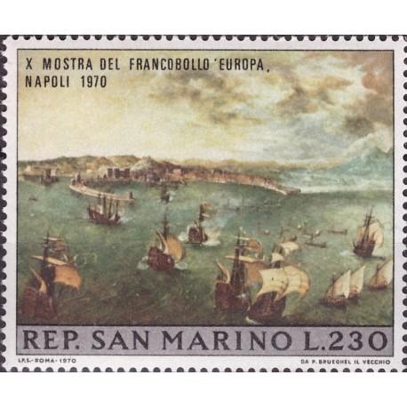1 عدد تمبر نمایشگاه تمبر ناپل ایتالیا - تابلو نقاشی - سان مارینو 1970