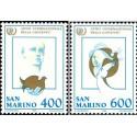 2 عدد تمبر سال بین المللی جوانان - سان مارینو 1985