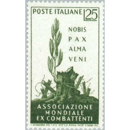 1 عدد تمبر کنوانسیون بین المللی جانبازان جنگ ، رم - ایتالیا 1959