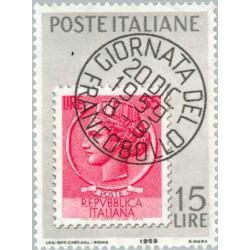 1 عدد تمبر روز تمبر - ایتالیا 1959