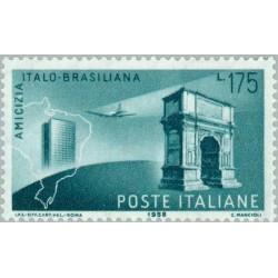 1 عدد تمبر روابط دوستانه ایتالیا و برزیل - ایتالیا 1958