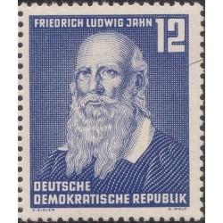 1 عدد تمبر صدمین سالگرد درگذشت فردریش لودویک جان - محقق ژیمناستیک - جمهوری دموکراتیک آلمان 1952 با شارنیه - قیمت 3.3 دلار