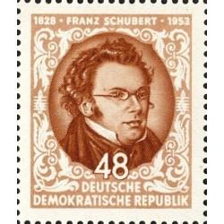 1 عدد تمبر 125مین سالگرد درگذشت فرانس شوبرت آهنگساز اتریشی - جمهوری دموکراتیک آلمان 1953 با شارنیه - قیمت 4.4 دلار