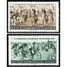 2 عدد تمبر رویداد صلح - دوچرخه سواری - جمهوری دموکراتیک آلمان 1954  قیمت 3.9 دلار
