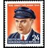 1 عدد تمبر دهمین سال فوت ارنست تالمن - رهبر حزب کمونیست آلمان  - جمهوری دموکراتیک آلمان 1954