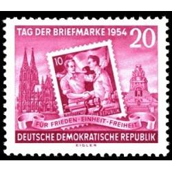 1 عدد تمبر  روز تمبر  - جمهوری دموکراتیک آلمان 1954 با شارنیه
