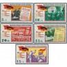 5 عدد تمبر بیستمین سالگرد آزادی - جمهوری دموکراتیک آلمان 1965