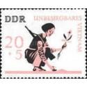 1 عدد تمبر جنگ ویتنام - جمهوری دموکراتیک آلمان 1966