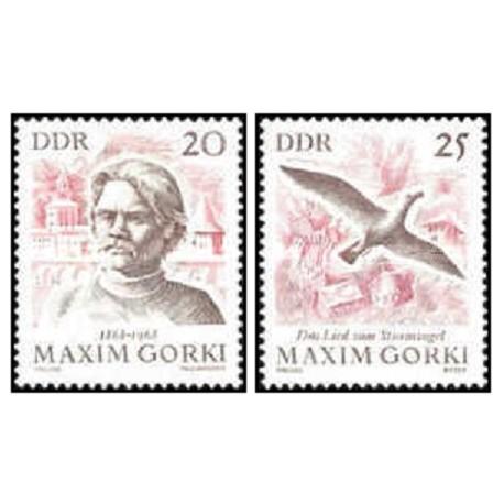 2 عدد تمبر صدمین سالگرد تولد ماکسیم گورکی  - جمهوری دموکراتیک آلمان 1968
