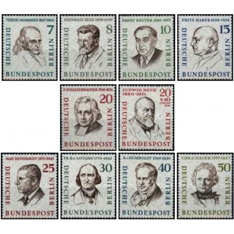 10 عدد تمبر مردان مشهور برلین - برلین آلمان 1957 قیمت 14.4 دلار