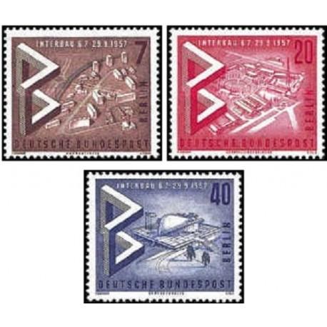 3 عدد تمبر نمایشگاه بین المللی ساختمان - برلین آلمان 1957 قیمت 2.7 دلار