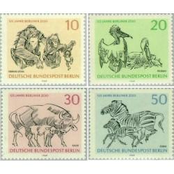4 عدد تمبر 125مین سالگرد باغ وحش برلین - برلین آلمان 1969