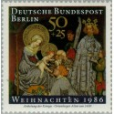 1 عدد تمبر کریستمس - برلین آلمان 1986