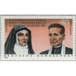 1 عدد تمبر رستگاری ادیت استین و روبرت مایر - جمهوری فدرال آلمان 1988