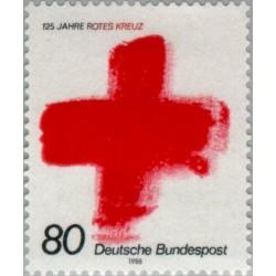 1 عدد تمبر 125مین سالگرد صلیب سرخ - جمهوری فدرال آلمان 1988