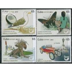 4 عدد تمبر اسطوره ها و افسانه ها  - کوبا 2012