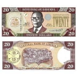 اسکناس 20 دلار - لیبریا 2011 تک