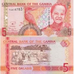 اسکناس 5 دالاسی - گامبیا 2009